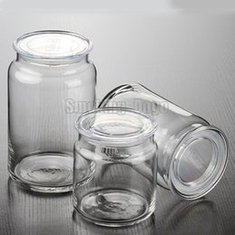 Wholesale Clear Containers - Smoking Dogo Wholesale High Quality Moistureproof Clear Glass Jar for Dry Herb and Tobacco Storage Container 500ML 1000ML