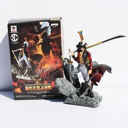 Wholesale Finish One - Anime One Piece Dracule Mihawk PVC Action Figure Collection Toy Model toy doll 16CM Free shipping