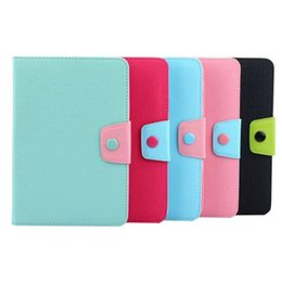 Wholesale Galaxy S2 Card - Leather Case Stand TPU Card Money Slot Colorful Pouch For Samsung Galaxy Tab A 9.7 T550 T350 S2 8.0 T715 T710 T815 T810 tablet skin luxury