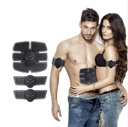 Wholesale Slimming Toning Machine - Third Generation Electric Muscle Stimulator EMS Body Slimming Beauty Machine Muscle Exerciser Electro Body Toning Massager