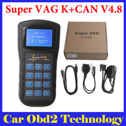 Wholesale Odometer Correction Free - Top Rated Super VAG K+CAN V4.8 Odometer Correction Support Multi-language Free Shipping