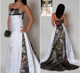 Wholesale Court Wedding Dresses Sale - Hot! 2016 Hot Sale! Sexy Camo Wedding Dresses Camouflage Lace Up Bridal Gowns Vestidos De Novia