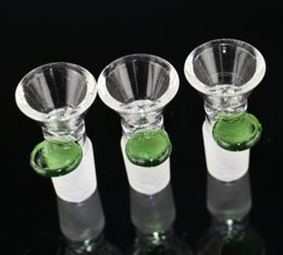 Wholesale Handles Wholesale - Manufacturer handle glass on glass bowl thick glass bowl 14.5 & 18.8mm male joint for tabacco glass water pipe bong bubbler