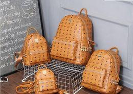 Wholesale Japan School Bags - 2017 new arrival Fashion punk rivet backpack school bag unisex backpack student bag men travel STARK BACKPACK