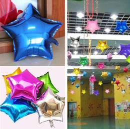 "Wholesale Star Shape Balloons - 18"" Inch  45cm Foil Star Shape Balloon Helium Metallic For Wedding Birthday Party Inflatable Ballons 7 Colors QIU003"