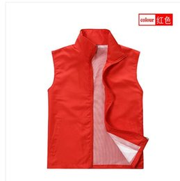 Wholesale advertising clothes - Fall-Vest advertising Vest customize work wear Vest clothes printing Women vest