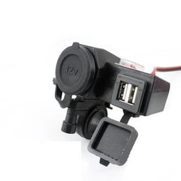 Wholesale Cigarette Socket Usb Adapter - New Motorcycle 12V power outlet USB Adapter Cigarette Lighter Dual Port Integration Outlet Socket 5v 2.1A usb car power charge socket