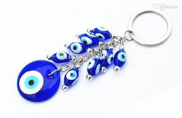 Wholesale Evil Eye Key Ring - Wholesale-free shipping hot selling evil eye keychain blue eyes keychain turkey eyes key ring