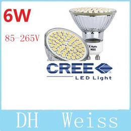 Wholesale Cree Mr16 12v Leds - 6W GU10 Led Bulbs Light 60 Leds 3528 SMD Cool White Warm White E27 MR16 Led Spotlights Lamp 110V 220V 12V CE ROHS