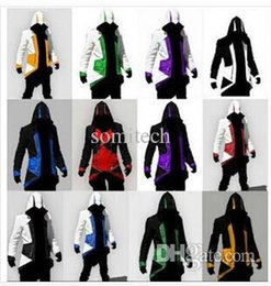 Wholesale Assassins Creed Figures - Wholesale-assassins creed jacket Hoodie Conner Kenway costume anime figure assassins creed cosplay for man kid carnival assassin's cree