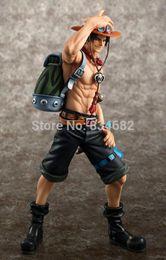2019 um pedaço de portgas d figura ace Anime Um Pedaço Portgas D Ace Battle Ver. Fire Fist Ace PVC Action Figure Coleção Modelo Toy 23CM desconto um pedaço de portgas d figura ace