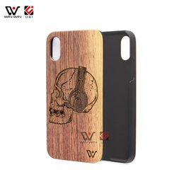Wholesale iphone 3d skull - Skull Pattern Wood Case For iPhone X Apple 10 Hard Plastic Back Cell Phone Mobile Cover Dirt Resistant 3D Cartoon Coque Drop Ship