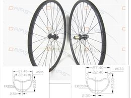 Wholesale 26 Inch Mountain Bike Wheels - asymmetric 27.5er 29er Straight pull FASTace DA206 carbon MTB wheel tubeless asymmetri MTB bicycles disc wheelset bicycle wheels
