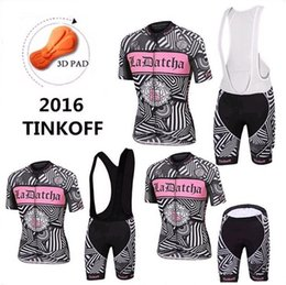 Wholesale Saxo Woman Cycling - 2016 Tinkoff Saxo Bank Tour De France Team Cycling Jerseys Women Bicycle Wear Short Sleeve Cycling Tights with Bib Pants or No Bib Shorts