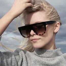 Wholesale Retro Shadow - Retro Shadow Two Tone Flat Top Sunglasses Designer Oversize Inspired Sunglasses 10pcs lot Free Shipping