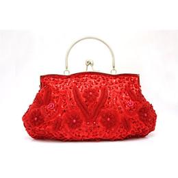 Wholesale Embroidered Bags Handmade - Wholesale-11 Color High Quality Women's Beads Evening Bag Exquisite Handmade Beaded Bags Embroidered Wedding Bridal Bag Wristlet bolsos
