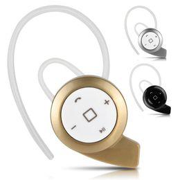 Wholesale Mini Hd Headphones - US Stock! New Mini Wireless HD Stereo Bluetooth Headset Headphones Cellphone Earphone for iPhone Samsung 3 Colors Gold Black Silver
