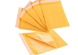 Wholesale Envelopes Bubbles - 4.3*5.1 inch kraft bubble envelope bag bubble bag small items envelopes
