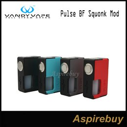 Wholesale Pulse Batteries - Vandy Vape Pulse BF Squonk Box Mod Comes with 8ML Food Grade Silicone Bottle Steel Cap Compatible with 18650 20700 Batteries 100% Original