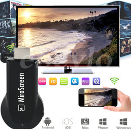 Wholesale Dlna Display - MiraScreen OTA TV Stick Dongle Better Than EZCAST EasyCast Wi-Fi Display Receiver DLNA Airplay Miracast Airmirroring Chromecast V1627