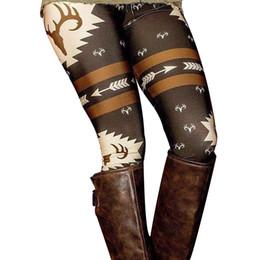 Plus Size Donna Leggins elastici Harajuku elastici con stampa di cervo di Natale modello Slim Leggings Pants LX4062 da