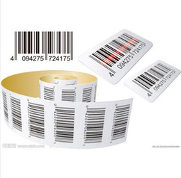 Wholesale Printed Stickers - 800PCS Custom Adhesive EAN UPC Barcode Sticker Bar Code Price Label Printing Customize Merchandise Shoe Clothes Size Stickers Labels Paper