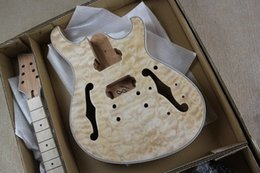 Wholesale Diy Electric Guitar - The Wholesale-2015 Hot Sale Factory Customized Semi-finished Electric Guitar with All Accessories and can be DIY