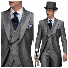 Wholesale Mens Dress Burgundy Suit - 2016 Mens White Suit For Weddings Suits For Men Tuxedo For Gentle Men Tuxedo Prom Suits Party Clothing Tailcoat Tuxedo Dress