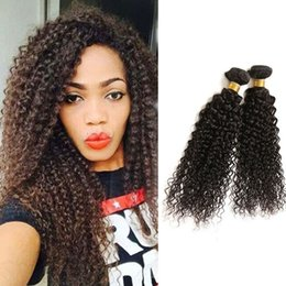 """Wholesale Jerry Curl Weave Extensions Human Hair - 8-30"""" Malaysian Peruvian Cambodian Mongolian Brazilian Jerry Curly Virgin Remy Hair Weaves Unprocessed Human Weft Hair Extension Kinky Curls"""