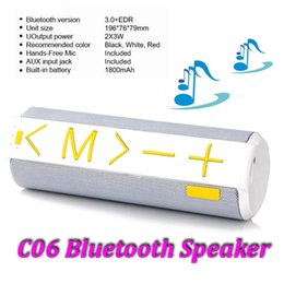 Wholesale Mini Bluetooth Speaker Battery - Wireless Mini Bluetooth Speaker C06 Built-in TF Card Reader Microphone for Hands-Free Phone Calls With 1800mAh Battery