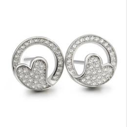 Wholesale Cz Studs Cheap - cheap heart shape silver earring studs shining CZ stone 925 silver fashion jewelry China factory directly wholesale -EB00549