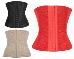 Wholesale leather corsets for women - 2015 hot sell Chrismas Newest Full Steel Bone Waist Training Corset Hanging Shoulder Sexy Leather Bustiers For Women Push Up Corset 3 Colors