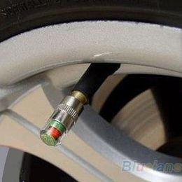 Wholesale Car Sensor Indicator - Wholesale-4PCS Car Auto Tire Pressure Monitor Valve Stem Caps Sensor Indicator Eye Alert Diagnostic Tools Kit 02HN 2UWE
