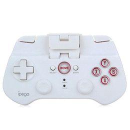 Wholesale Ipega Bluetooth Controller Ios - iPega Wireless Bluetooth Game Controller Gamepad for iPhone iPad Samsung iOS Android Tablet PC control visible