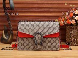 Wholesale Authentic Leather Bags - 2018 new bags channel bolsa authentic vintage brand designer retro printing Mobile Messenger handbags women handbag wholesale