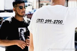 Wholesale Painting Tee Shirts - Hot summer Europe and United states T-shirt tee streets Diagonal stripes Spray painting hip hop black white shirts