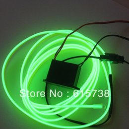 Wholesale Flexible Neon Light Glow El - 1M Neon Flexible Light Glow EL Strip Wire Tube cold light cold wire cold lights 1M for car EL wire