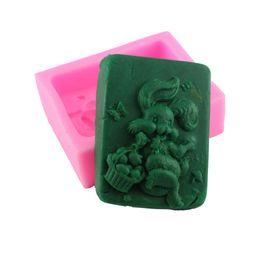 Wholesale Soap Rabbit - DIY Handmade Soap Molds Rabbit Mushrooms Shape Fondant Chocolate Mold Silicone Cake Mold Cake Decorating Baking Tools Q115