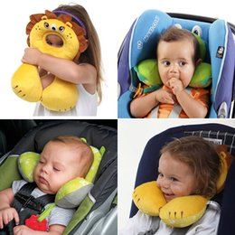 Wholesale Massage Cushion For Car Seat - Wholesale- Carton Animals Wall Baby U Shape Neck Pillow Travel Pillow Newbrons Infant Car Seat Cushion For Kids Car Pillow Kawaii Headrest