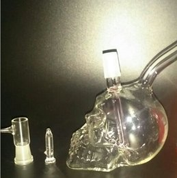 Wholesale Cheap Glass Pipes For Sale - Cheap Price Newest Design 3 Size 10mm 14mm 18mm Clear Color Skull Glasses Bongs Water Smoking Glass Pipe Hookahs For Sale