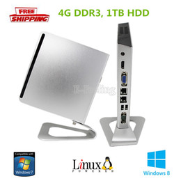 Wholesale Thin Clients China - Wholesale-Thin Client Intel Core i3 Mini PC 4G DDR3, 1TB HDD With Fanless Design Working 24 Hours Buy Direct From China Wholesale