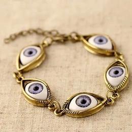 Wholesale Eyes Devil Bracelet - Brand New Arrivals England Bracelets for women Gift Retro angel devil eyes wholesale Jewelry Free Shipping