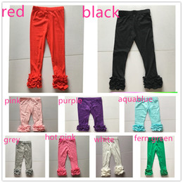 Wholesale girls ruffle tights - children icing ruffle leggings wholesale girl fall spring legging tights girl icing tights leg boutique tights