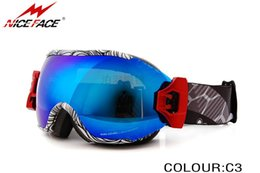 snowboard goggles canada s8hw  Wholesale-Fashion colorful Frame Dual super Lens Anti-Fog Snow Ski Snowboard  Goggles Three