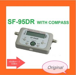 Wholesale Signal Finder For Satellite Dish - Original Satellite Signal Finder SF-95DR Satfinder Find Meter LCD DIRECTV Dish FTA Digital For TV Signal Finder DHL free shipping