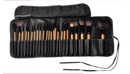Wholesale Cheapest Makeup Brush Set - 1lot=24PCS Cheapest Cosmetic Brush set Wooden Handle Synthetic Makeup Brush Kits makeup brushes tools facebrush and eyebruse