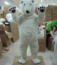 89db63b573 2016 Nuovo orso polare bianco del costume della mascotte del vestito  operato di formato adulto della mascotte di formato adulto Halloween, ...