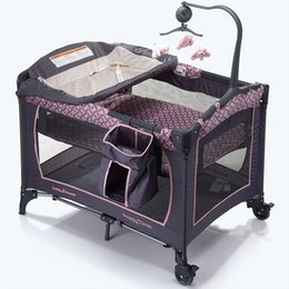 Wholesale Multi Function Baby Crib - Portable Cribs Multi-Function Cribs Beds For Baby Infant Children Baby Toys Game Bed Folding Bed 11 design MC-117