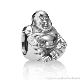 Wholesale Custom Jewelry Charms - Unique Tibetan Buddha design 925 Sterling Silver European Bead Charm Custom DIY Jewelry For Snake Bracelet Chain Wholesale