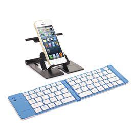 Wholesale Ipad Mini Folding Keyboard - Hot Wireless Bluetooth Foldable Folding mini Keyboard for iPhone 3g 3gs 4 4s iPad 1 2 Free shipping